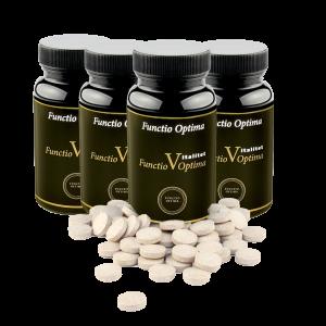 TILLFÄLLIGT ERBJUDANDE! Fyra burkar till priset av tre! Functio Optima Vitalitet, 240 tabletter